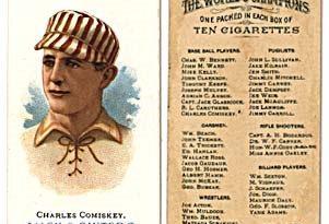El cromo de Allen & Ginter 1888 es el más importante de Charles Comiskey durante su etapa como jugador