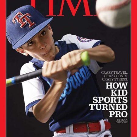 Joey Erace portada de Time niño prodigio del beisbol infantil mlb deporte infantil