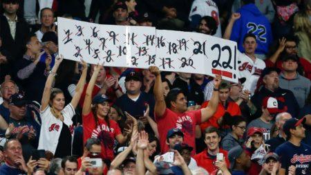 Cleveland Indians y sus 22 victorias fans de los Cleveland indians 2017