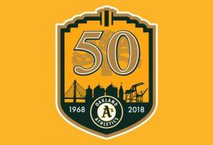 Oakland Athletics 2018 logo equipos mlb 2018