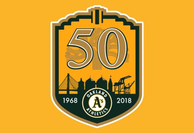 Oakland Athletics 2018 logo
