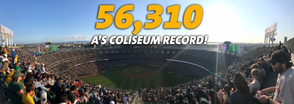 56310 espectadores en el Oakland Coliseum