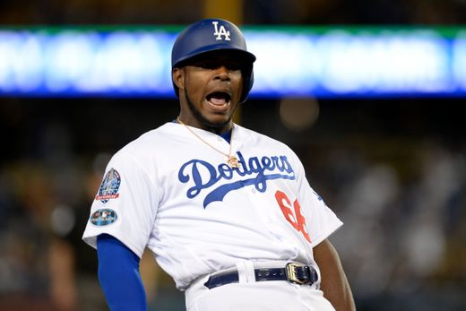 NLCS Game 7: Milwaukee Brewers - Los Angeles Dodgers yasiel Puig mlb postseason 2018