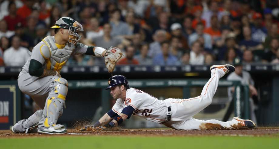 Los Houston Astros empatan la Serie Mundial 2017 World Series reddick scores Anita one run una Carrera