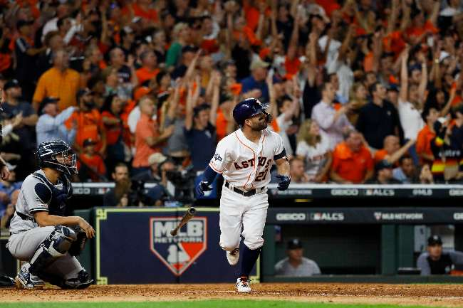 jose altuve home run ante yankees, final liga americana 2019 beisbol mlb