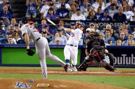 Los Dodgers igualan las Series Mundiales Home Run Joc Pederson World Series 3 Carreras mlb