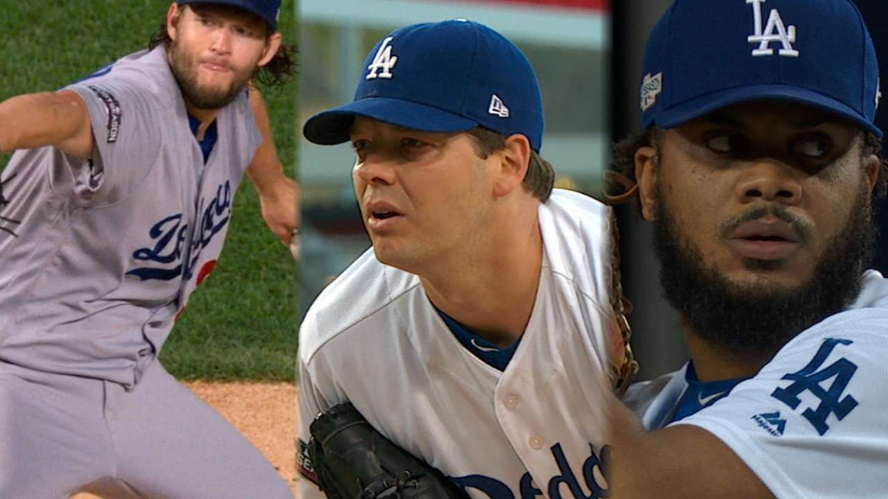 Dodgers' Pitchers Los Dodgers a cuatro partidos de la gloria red sox postemporada 2018 mlb