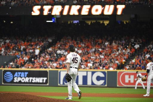 Gerrit Cole domina a los Rays houston astros tampa bay rays final division 2019 beisbol mlb