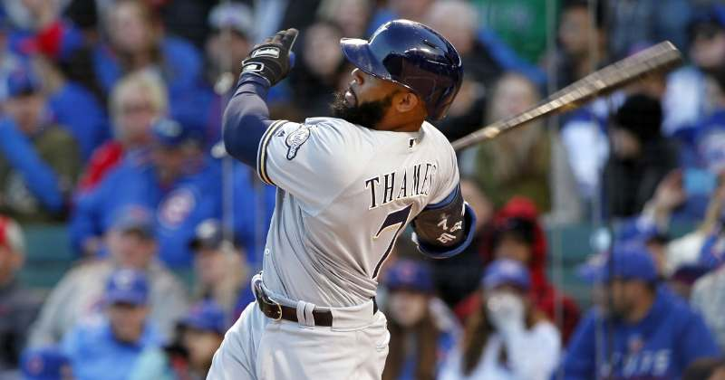 Eric Thames (Caylor Arnold, USA TODAY Sports) (Milwaukee Brewers 2018 mlb