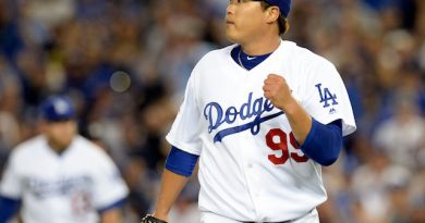 Ryu y el bullpen de los Dodgers humillan a los Braves