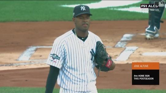 Series de Campeonato Liga Americana (Partido 3): Astros toman la delantera luis severino new york yankees beisbol mlb
