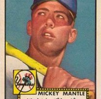 Cromo de Mickey Mantle en 1952 Topps Baseball