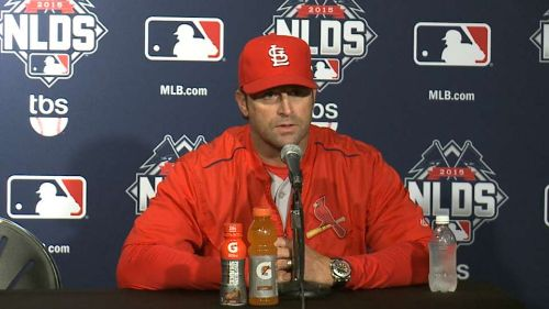 Mike Matheny, manager de los Cardinals (fuente:mlb.com) saint louis cardinals 2018