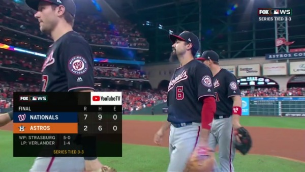 Series Mundiales (Partido 6): Victoria para Nationals 7-2. Habrá séptimo partido series mundiales 2019 world series beisbol mlb nationals astros
