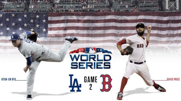 WS game 2: Todo al Rojo Boston Red Sox Los Angeles dodgers World Series 2018 series mundiales mlb Segundo partido David Pryce ryu