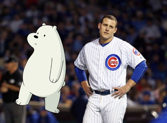 somos osos o cachorros chicago cubs mlb POLAR: ANTHONY RIZZO (Chicago Tribune)