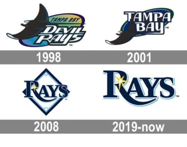 logos logo tampa bay rays mlb en español beisbol historia
