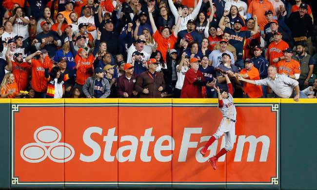 La Jugada (Foto de USA Today Sports) el espectáculo del béisbol astros red sox mlb 5 game partido postemporada 2018