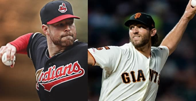 Corey Kluber a Rangers y Madison Bumgarner a D-backs beisbol mlb