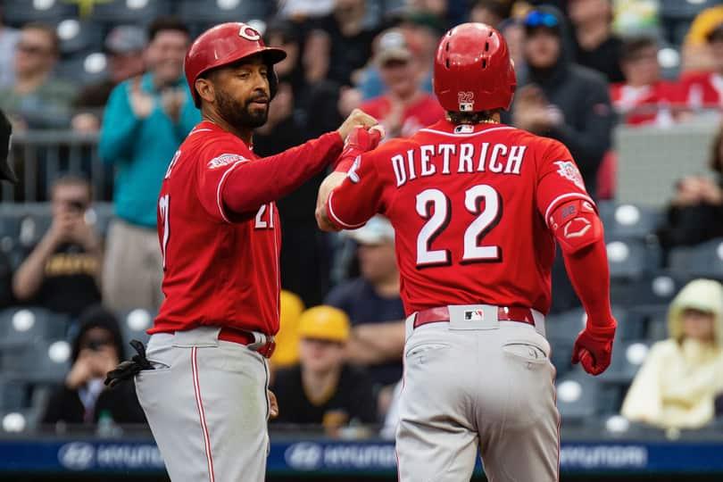 Derek Dietrich rojos de ira Rojos de ira y frustración los reds de Cincinnati beisbol mlb beisbolmlb