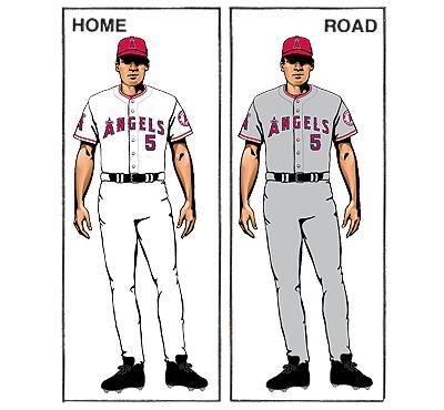 uniforme los angeles angels mlb en español beisbol