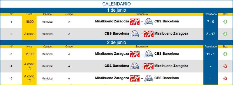 Béisbol y Sófbol en España - 2019 calendario división honor