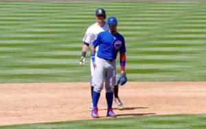 somos osos o cachorros chicago cubs mlb Javier Baez tapando señales de segunda base