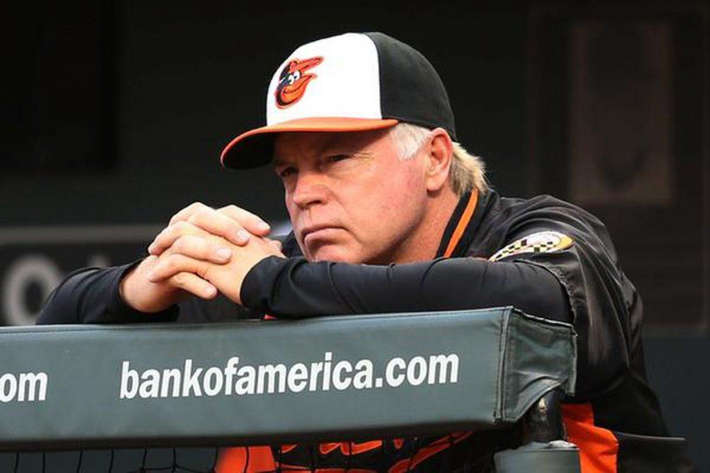 Showalter y su mirada seria. Baltimore Orioles 2018