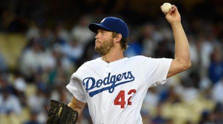 Clayton Kershaw jugando con los Dodgers