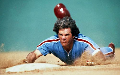 pete rose robando una base