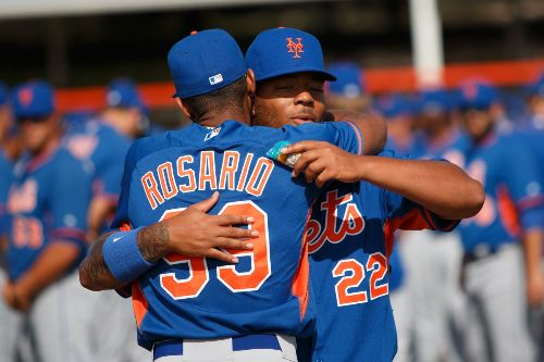 Rosario y Smith New York Mets