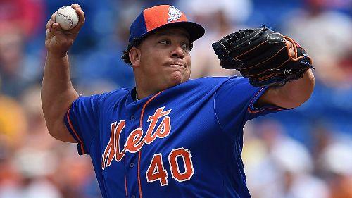 Bartolo Colón lanzando para los New York Mets