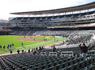 Viajar a ver béisbol mlb Target Field, Minneapolis