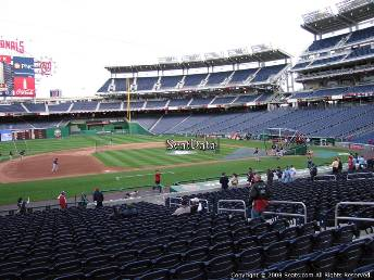 viajar para ver béisbol mlb Nationals Park, Washington