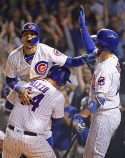 JAVIER BAEZ, RIZZO, BRYANT chicago cubs 2017
