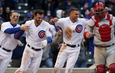 RIZZO, BRYANT, ALMORA JR. chicago cubs 2017