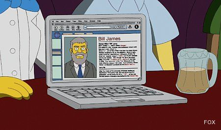 Bill James y su crítica del WAR los simpson