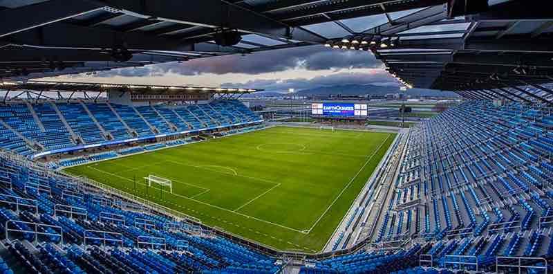 """Estadio Avaya - San José. Desde su apertura en 2015, el Estadio """"Avaya"""" ha sido anfitrión del juego de la MLS All-Star y ha puesto al área de la Bahía en el mapa del fútbol Dave Kaval, """"Rooted in Oakland"""" Athletics Athleticos"""