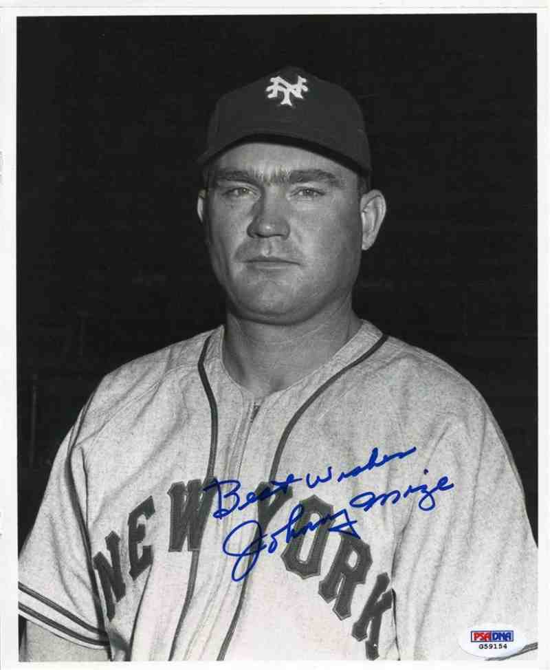 Johnny Mize. Mejores jugadores de la Historia del Béisbol