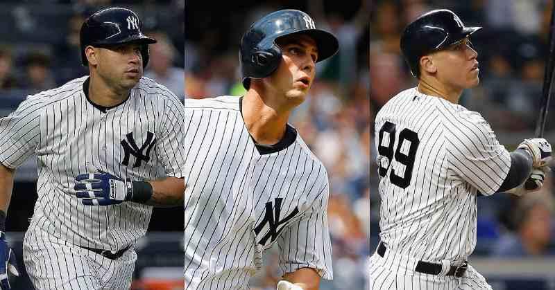 Sánchez, Bird y Judge (YESNetwork) new york yankees mlb 2018 equipos mlb