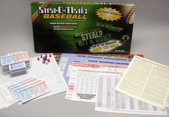 Strat-O-Matic, el juego de mesa sobre béisbol