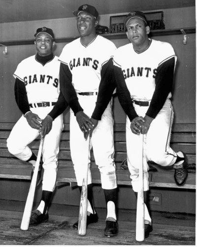 Willie Mays, Willie McCovey, y Orlando Cepeda giants mlb