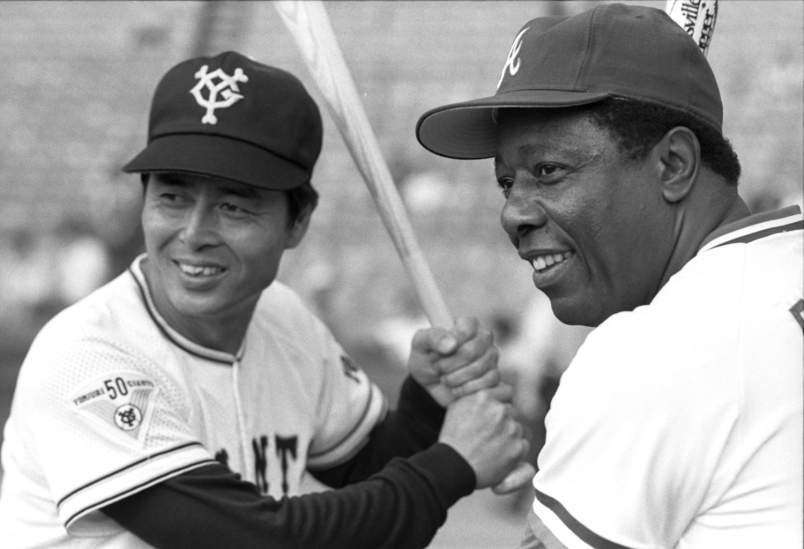 Hank Aaron y Sadaharu Oh (Fuente: Stars and Stripes)