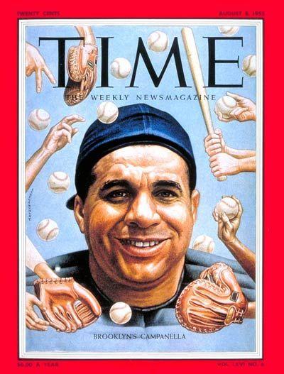 Roy Campanella (Fuente: Revista Time) Mejores jugadores de la historia del béisbol