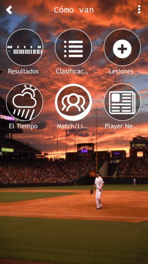 app de béisbol pitcheos salvajes mlb