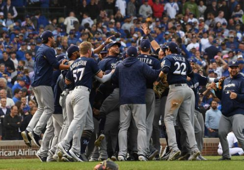 Brewers ganan la División Central Nacional Cubs MLB Brewers campeones de la División Central Nacional 2018 (usatoday)