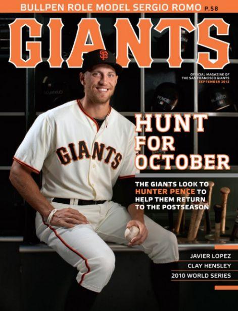 hunter pence portada de la revista giants