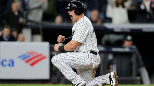 Luke Voit los yankees ahtletics wild card 2018 mlb
