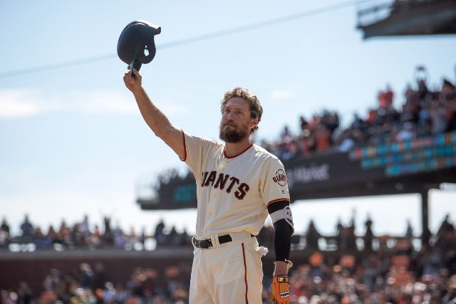 hunter pence San Francisco giants mlb despedida
