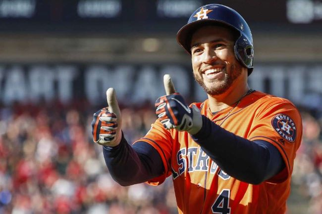 George springer mlb indians eliminados astros houston Cleveland 2018